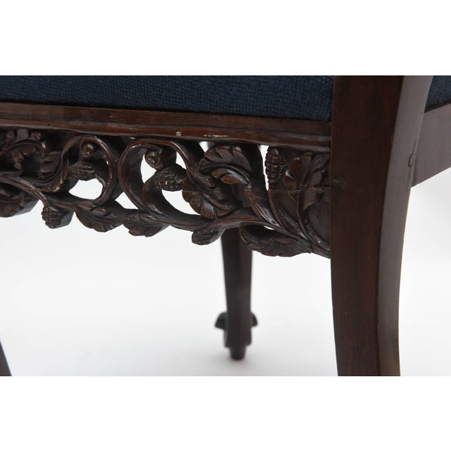 Superb Set of Four 19th Century Anglo-Indian Side Chairs For Sale - Image 10 of 11