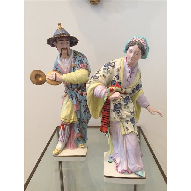 Chinoiserie Figurines by Chelsea House - Pair - Image 10 of 10