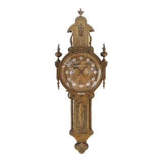 19th Century Creusy Paris Bronze French Clock For Sale