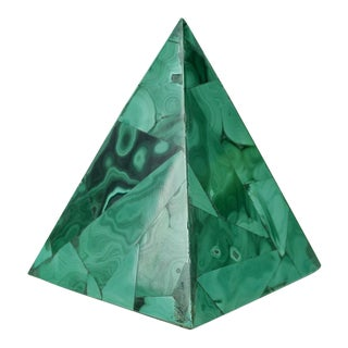 Malachite Pyramid Paper Weight For Sale