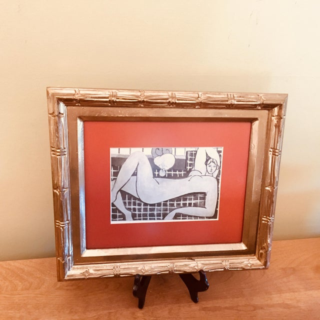 "Framed Print of Sketch for Matisse's ""The Pink Nude"" With Wooden Stand - Image 3 of 6"