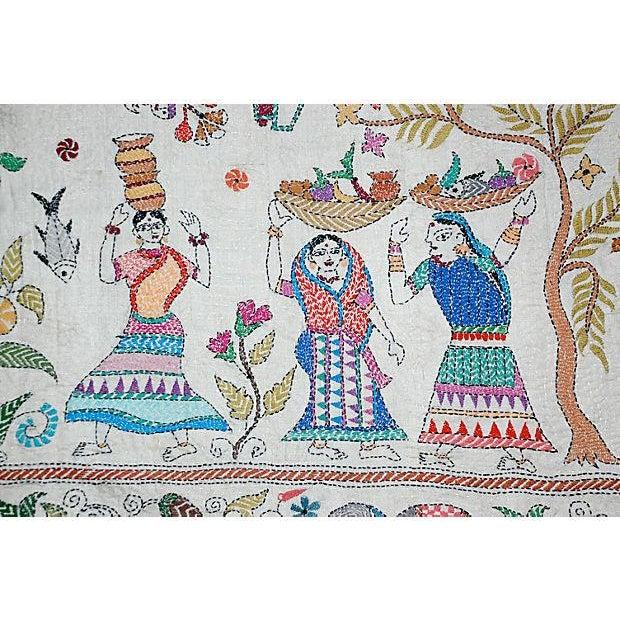 Silk Kantha by Sreelata Sarkar For Sale - Image 4 of 8