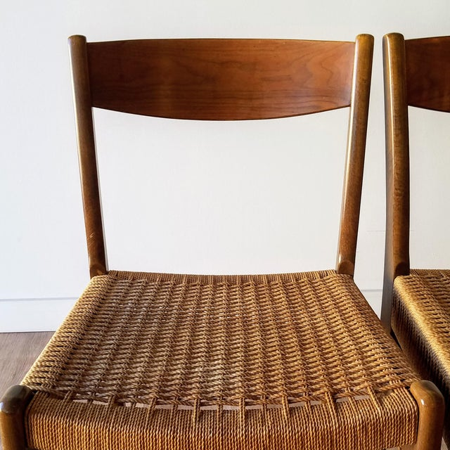Swedish Mid-Century Modern Rope Dining Chairs - a Pair For Sale - Image 9 of 13