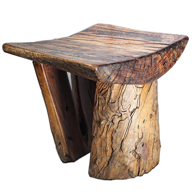 Rustic Tree Stump Stool - Image 2 of 6