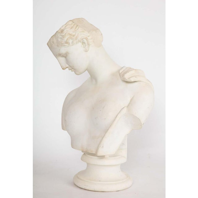 Antique Italian Neoclassical Marble Bust of Psyche, by Giuseppe Carnevale For Sale - Image 12 of 13