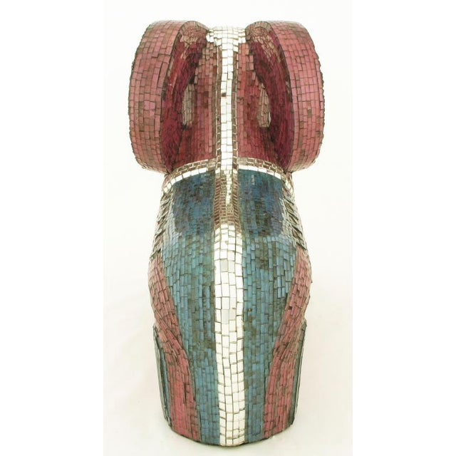 1970s Abstract Ram Sculpture Clad In Miniature Glass Mosaic For Sale - Image 5 of 7