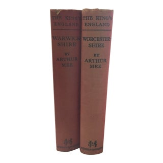 History of Warwickshire & Worcestershire Books, C1936 For Sale