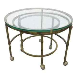 Brass Faux Bamboo Nesting Tables