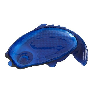 Large Vintage Blue Acrylic Fish Tray For Sale