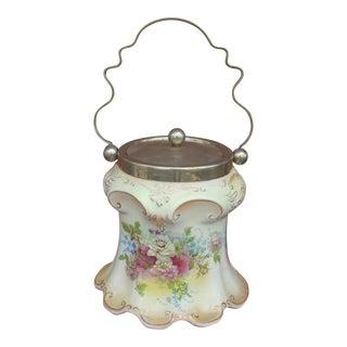 Victorian Floral Biscuit Jar