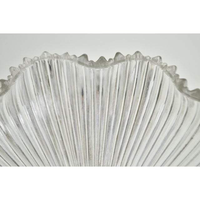 Glass Art Nouveau 1905 Franklin Ribbed Glass Light Shades - a Pair For Sale - Image 7 of 12