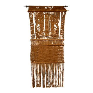 Large 1970's Macrame Wall Hanging For Sale