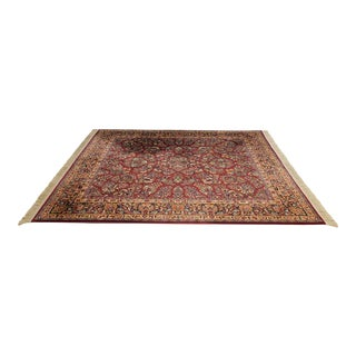 Karastan Red Sarouk 8.8 x 10.6 Room Size Rug For Sale