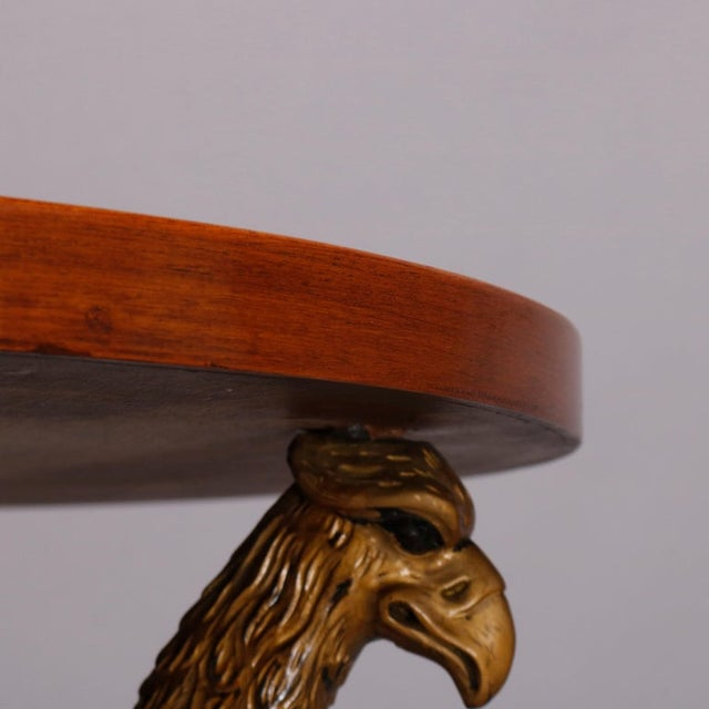 Black Vintage French Empire, Figural Ebonized & Gilt Mahogany Lamp Stand For Sale - Image 8 of 10