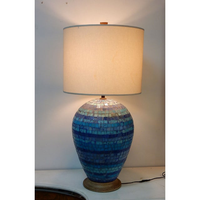 Mid Century Mosaic Table Lamp by Fisher - Image 8 of 8