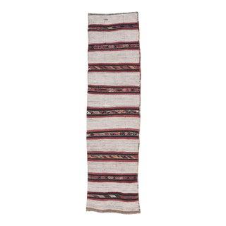 Vintage Striped Kilim Runner For Sale