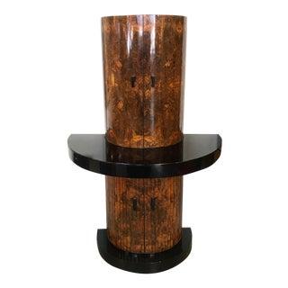 Art Deco Burlwood Custom Bar Cabinet