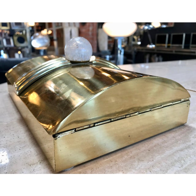 1960s Tommaso Barbi Vintage Brass Box, Italy, 1960s For Sale - Image 5 of 11