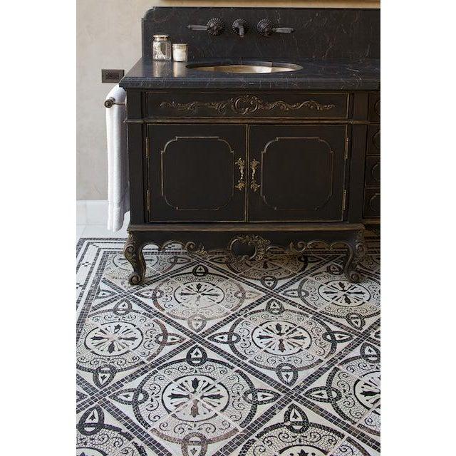 Traditional Platner & Co Carbon Carved Vanity For Sale - Image 3 of 7
