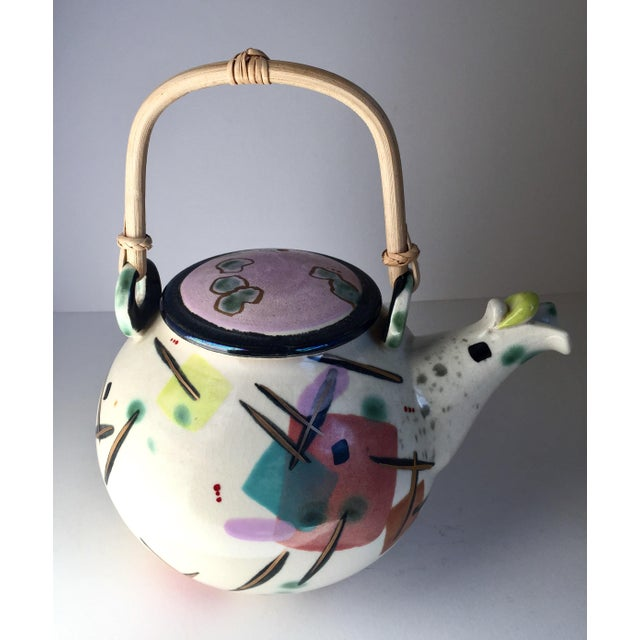 Abstract Contemporary Scott McDowell Porcelain Teapot For Sale - Image 3 of 8