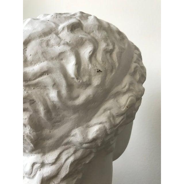 White Vintage Plaster Female Bust For Sale - Image 8 of 11