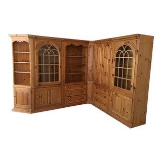 Thomasville 1800'sReplica Pine Wall Unit For Sale