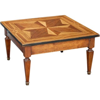 1990s Italian Square Coffee Table For Sale