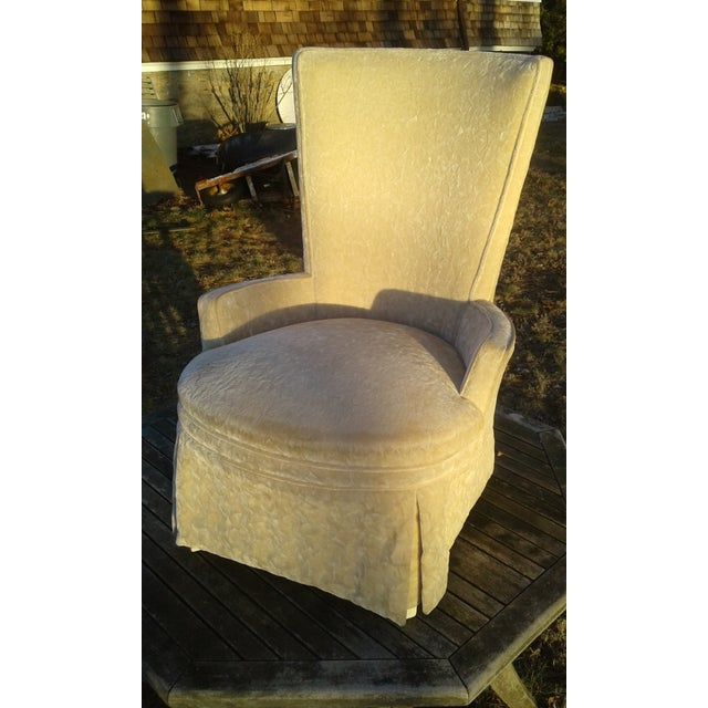 Vintage Highback Mohair Chair - Image 3 of 7