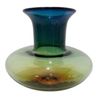 Vintage Blenko Large Bulbous Vase For Sale
