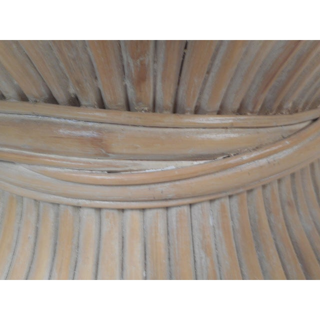 Vintage Modern McGuire Bamboo Wheat Sheaf Coffee Table For Sale - Image 10 of 11