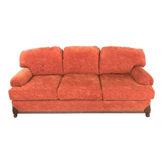 "C. R. Laine 90"" Cayenne Swirl Chenille Sofa For Sale"