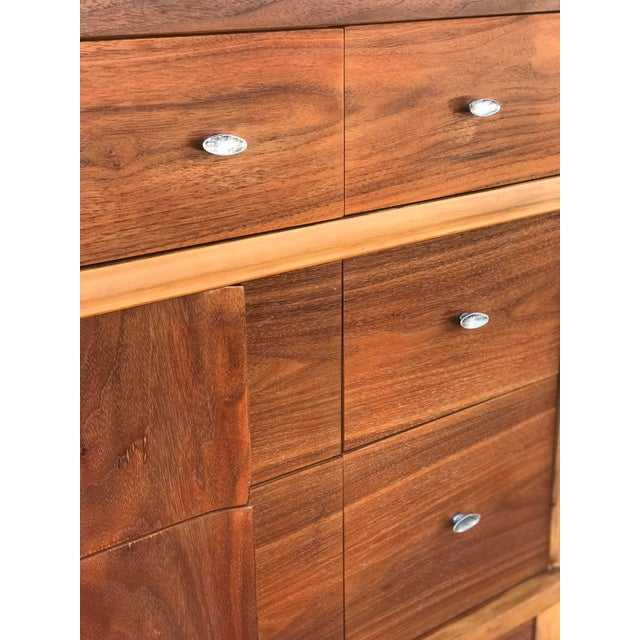 1960s Mid Century Credenza With Metal Pulls For Sale - Image 5 of 11