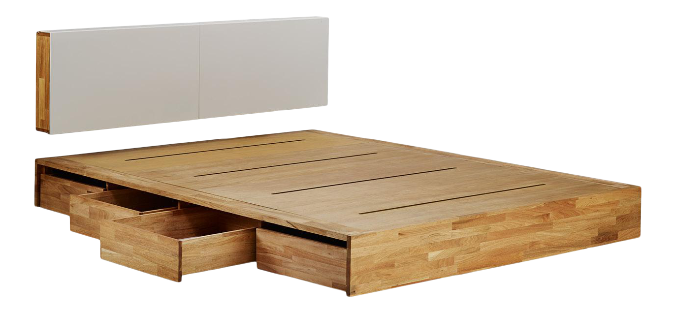 Platform Bed Queen With Storage Drawers And Solid Wood Hung Storage Headboard 2 Pieces Chairish