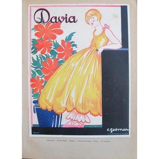 1920s French Art Deco Tip-On, Davia - Gesmar