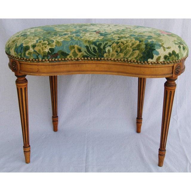 Italian Scalamandre Marly Fabric Bench - Image 5 of 11