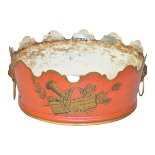 19th Century French Toleware Vierriere / Plant Holder For Sale
