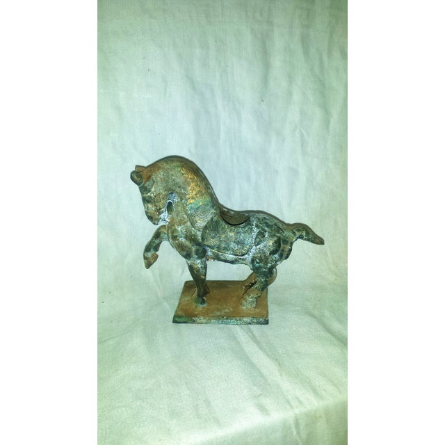 Antique Chinese Cast Iron Tang Horse Figurine - Image 6 of 7