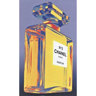 Matted Vintage Chanel Perfume Print For Sale