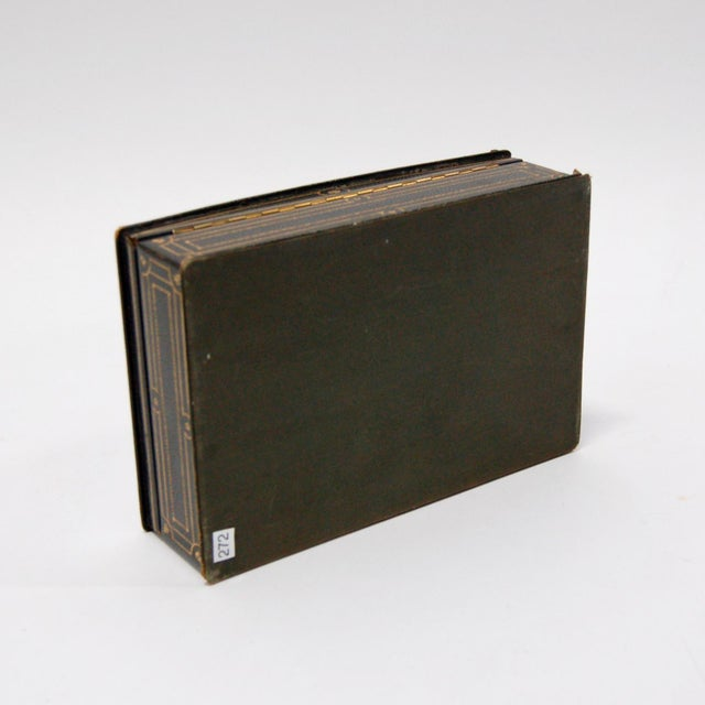 1930's Green Leather Cigarette & Cigar Humidor Tobacco Box - Image 8 of 8