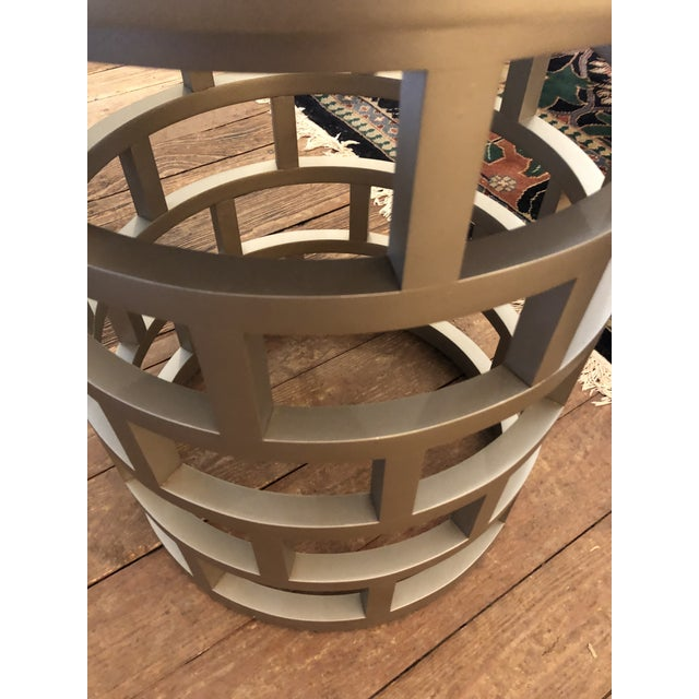 Silver Contemporary Side Table For Sale In Philadelphia - Image 6 of 8