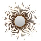 Image of Stamped Chaty French Sunburst Mirror For Sale