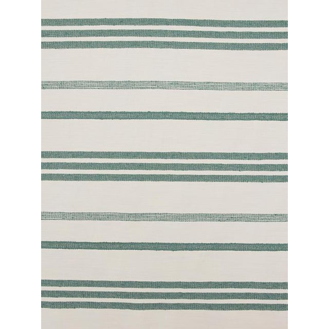 Scalamandre Marina Stripe Agave Fabric For Sale