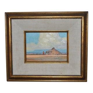"Robert Leroy Knudson (American, B.1929) ""Summer"" (Study) Oil Painting C.1974 For Sale"