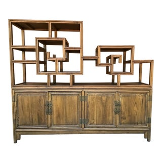 Chinoiserie Style Console Etagere For Sale