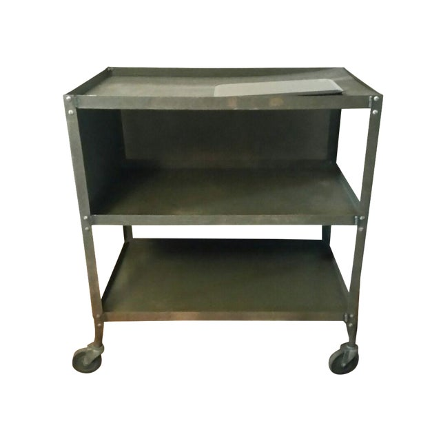Grey-Green Industrial Machinists Cart - Image 1 of 3