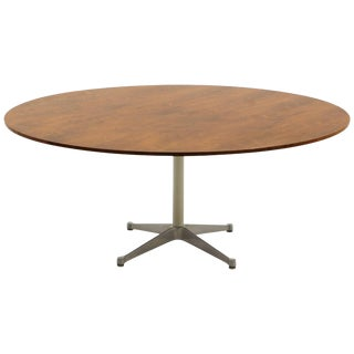 Prototype George Nelson Rosewood Round Dining or Conference Table, One of a Kind For Sale