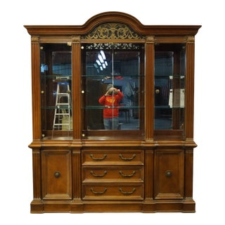 """Lexington Furniture Italian Provincial 72"""" Buffet W. Lighted Display China Cabinet 392-850 / 392-851 For Sale"""