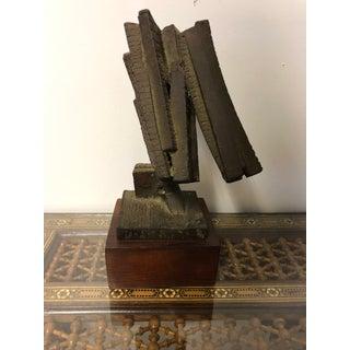 Mid Century Brutalist Modern Layman Jones 1964 Iron Sculpture Preview