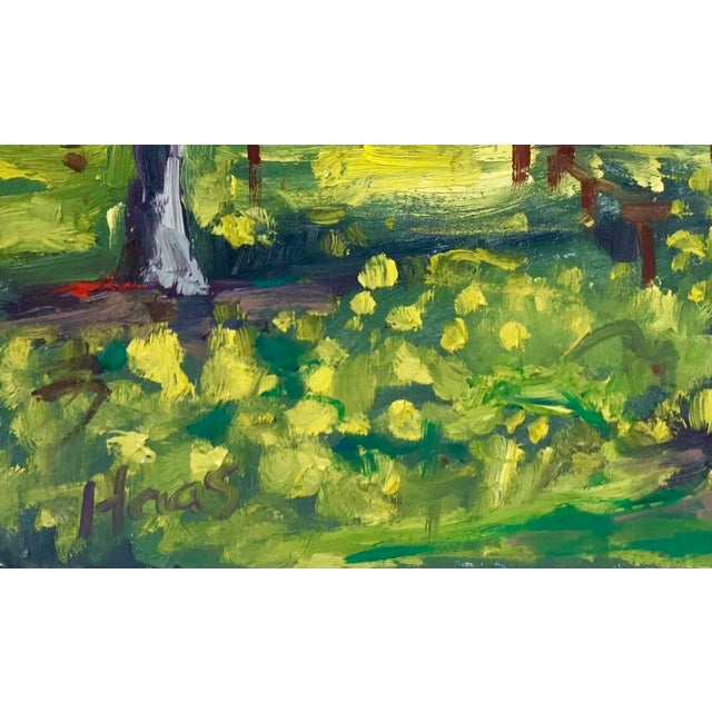 Green Suisun Valley Mustard Grass Original Landscape Oil Painting For Sale - Image 8 of 12