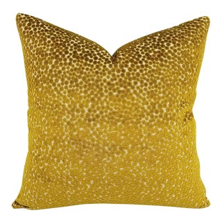 "Kravet Couture Quince Polka Dot Cut Velvet Plush Pillow Cover - 20"" X 20"" For Sale"